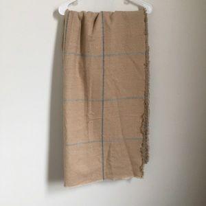 Zara grid blanket scarf